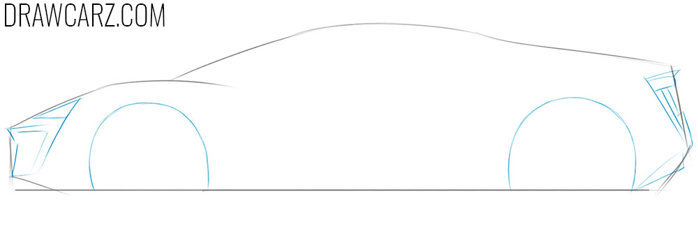 how to depict a lykan hypersport car