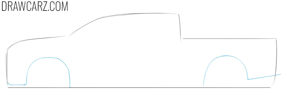 how to draw a diesel car