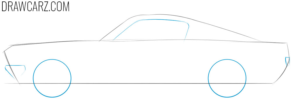 how to draw a realistic old car