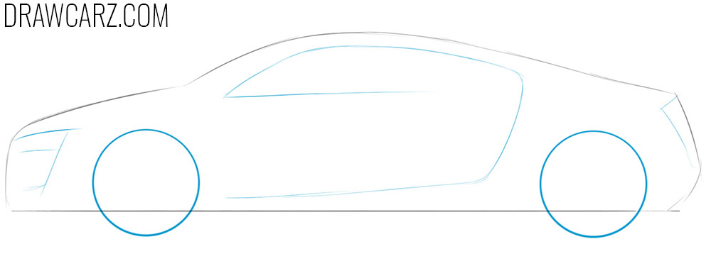 how to draw a realistic sports car