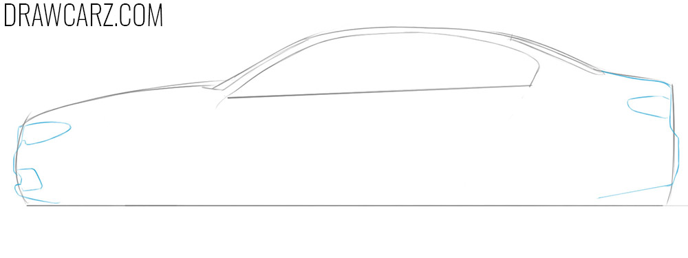 how to draw a bmw car for beginners