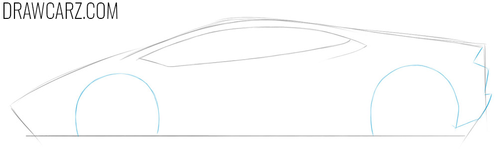 how to draw a car from the side