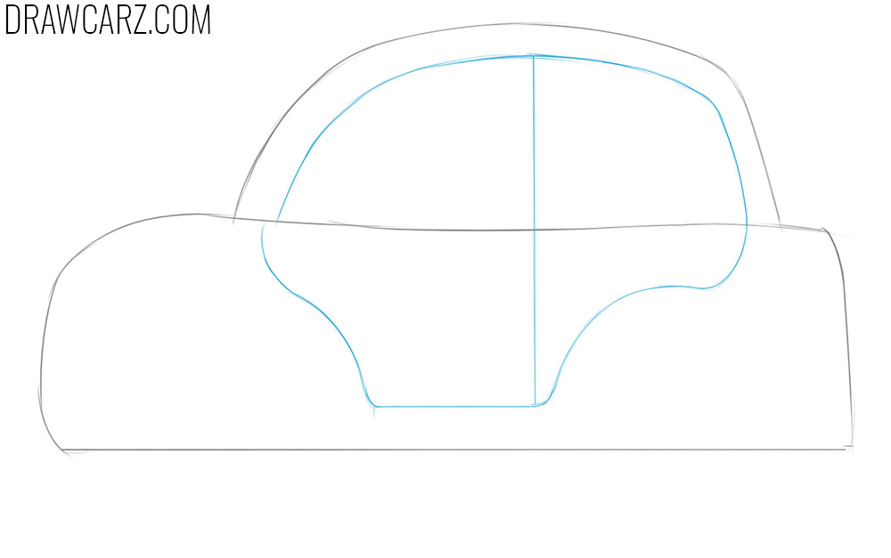 how to draw a cartoon car for beginners