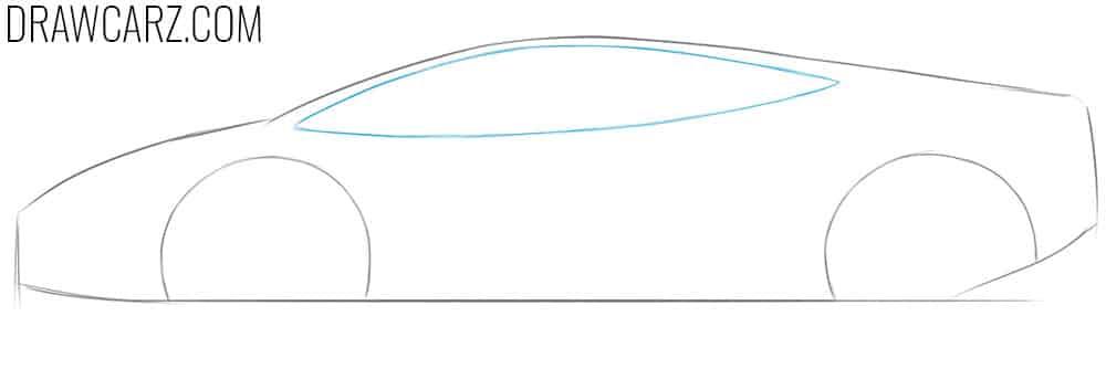 how to draw a cartoon lamborghini car