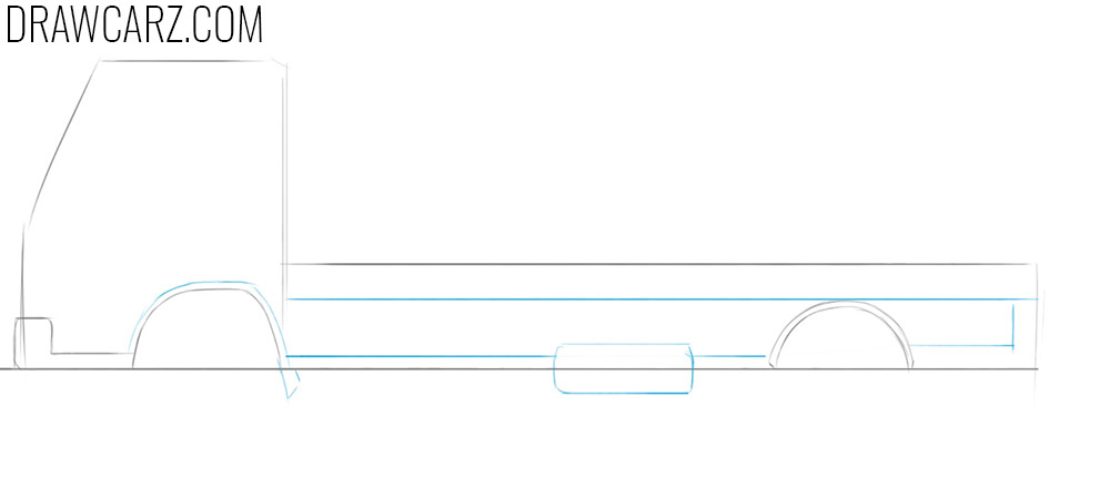 how to draw a flatbed truck easy step by step