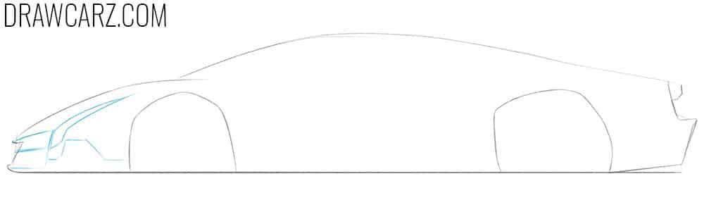 how to draw a lamborghini veneno easy