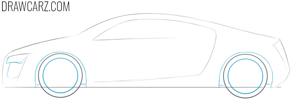 how to draw a realistic sports car step by step