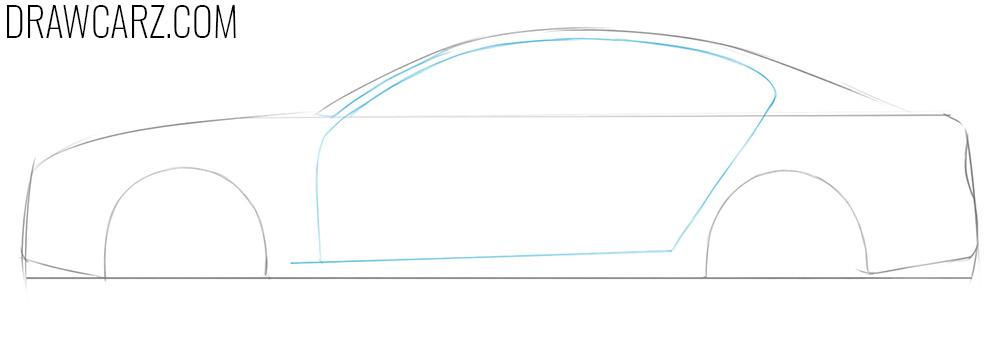 how to draw a very simple car