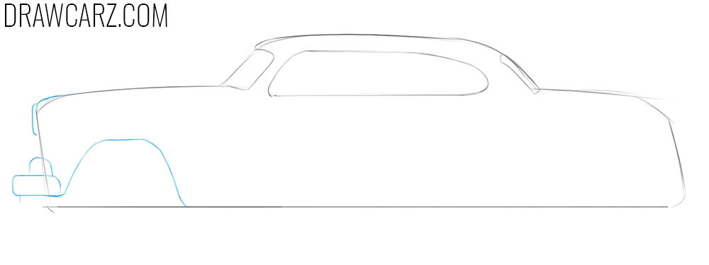 how to draw an antique car easy step by step