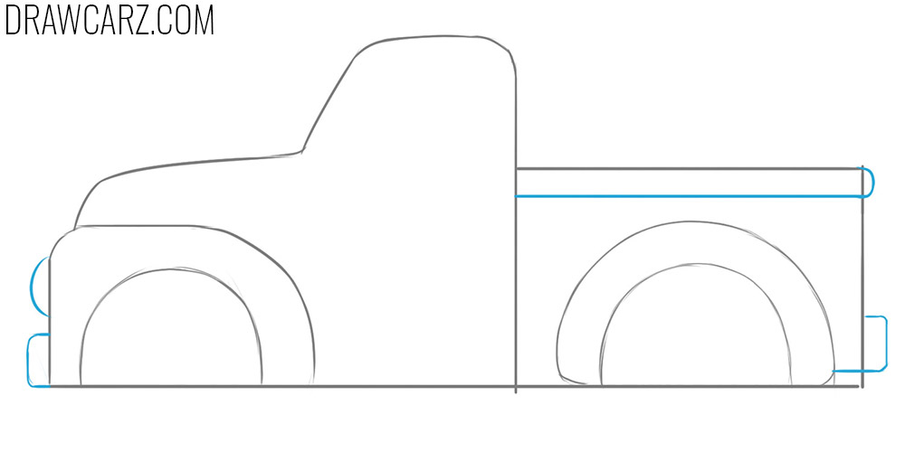 how to draw an easy Truck for Kids