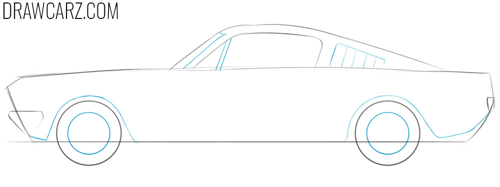 how to draw an old school car