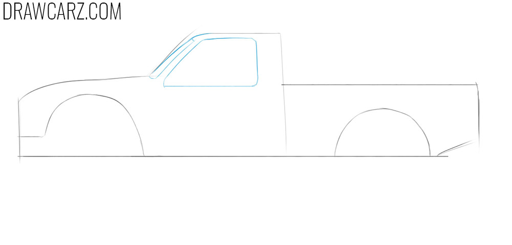 how to sketch a off road truck