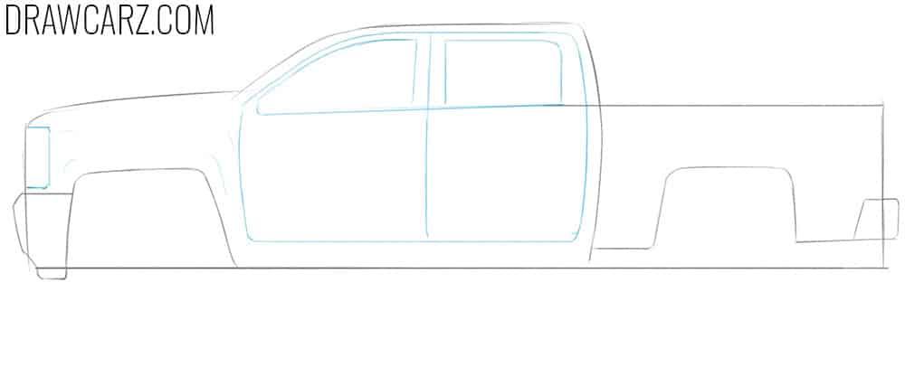 sketch a truck