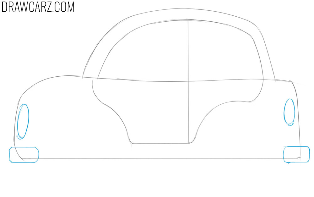 how to draw a cartoon car easy for beginners