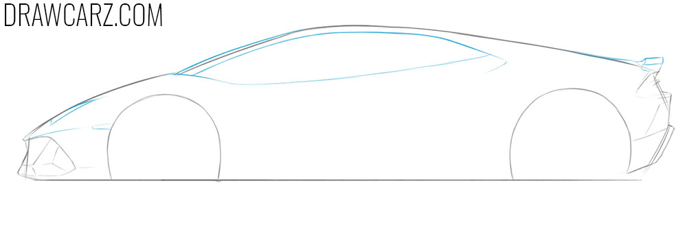 how to draw a lamborghini huracan spyder