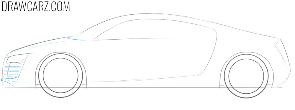 how to draw a realistic car easy