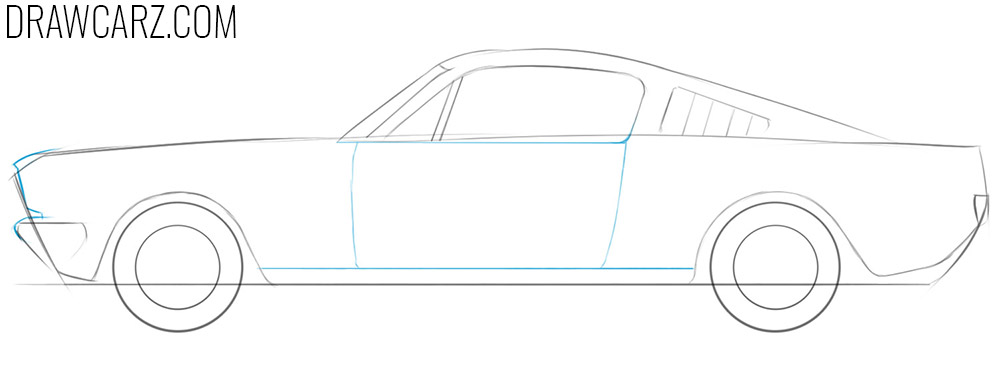 how to draw an old fashioned car step by step