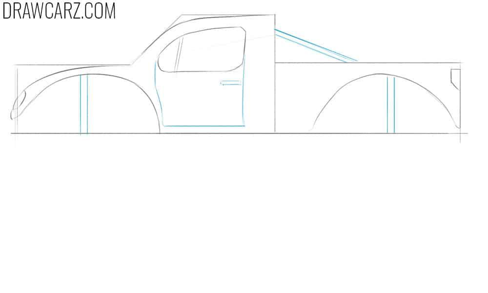 how to draw monster trucks easy