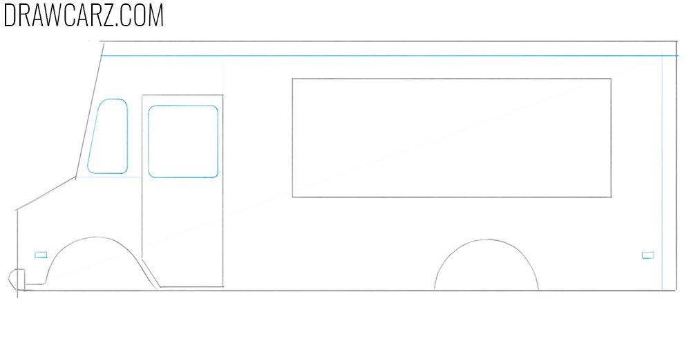learn how to draw a food truck