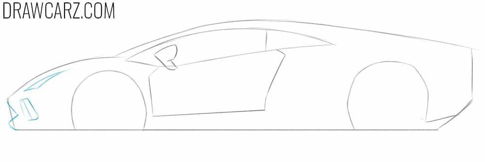 easy car drawing