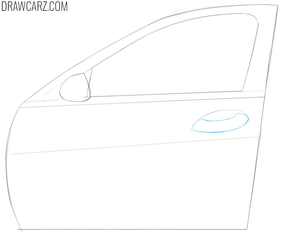 how to draw a Car Door easy
