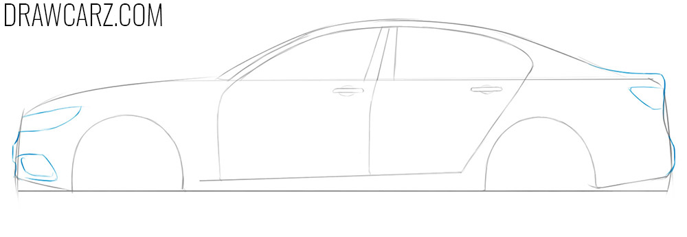 how to draw a car in a simple way