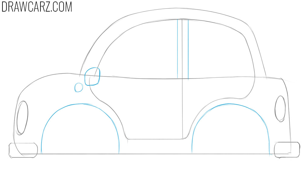 how to draw a cartoon car step by step easy