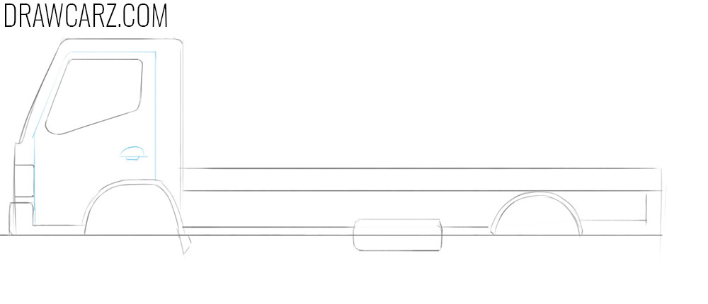 how to draw a flatbed truck for beginners