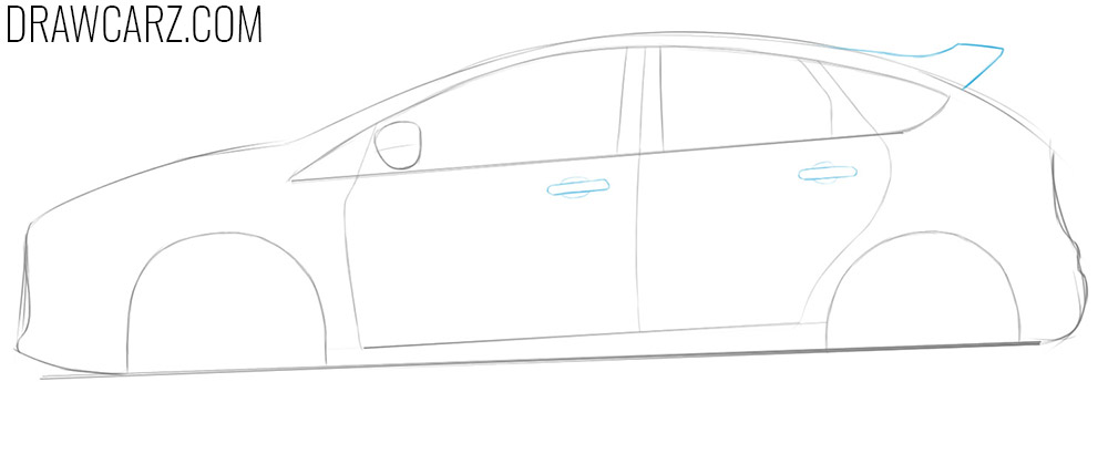how to draw a ford focus rs step by step from the side
