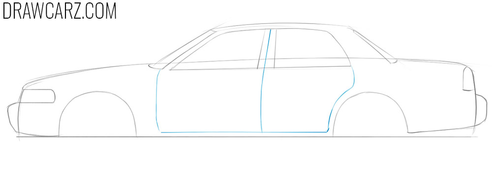 how to draw an easy police car