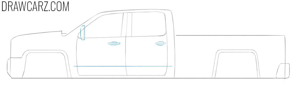 how to draw an easy truck step by step