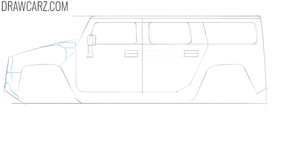how to draw big cars