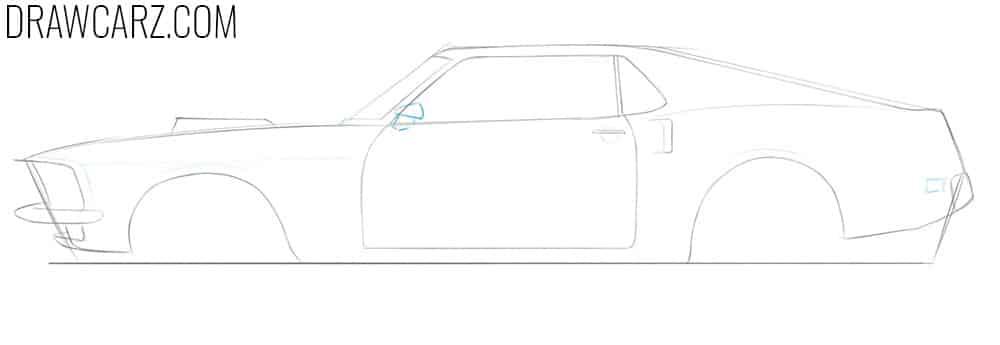 how do you draw a classic car