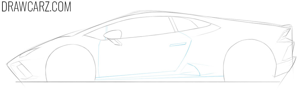 how to draw a lamborghini car step by step