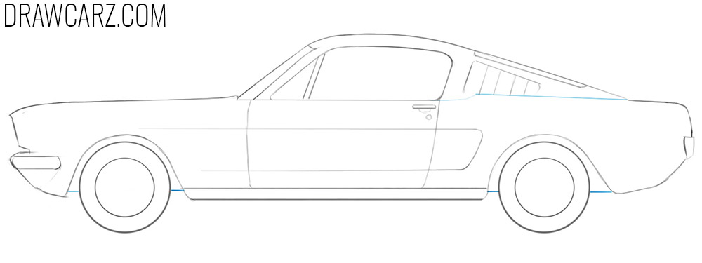 how to draw an old car easy