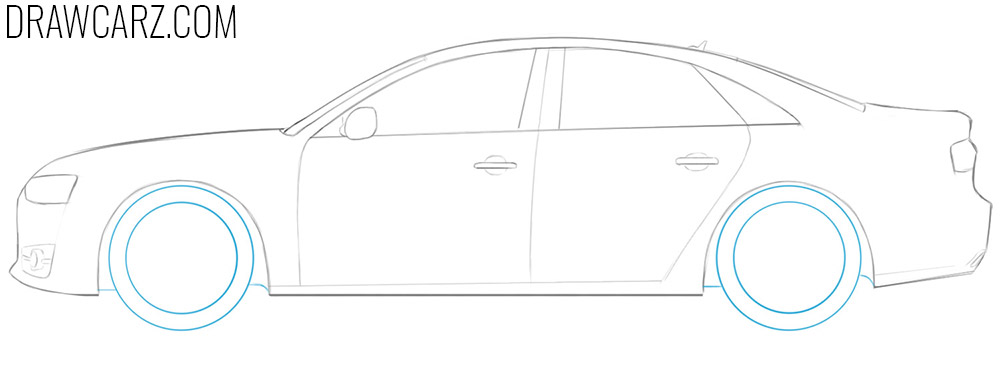 how to draw audi car easy