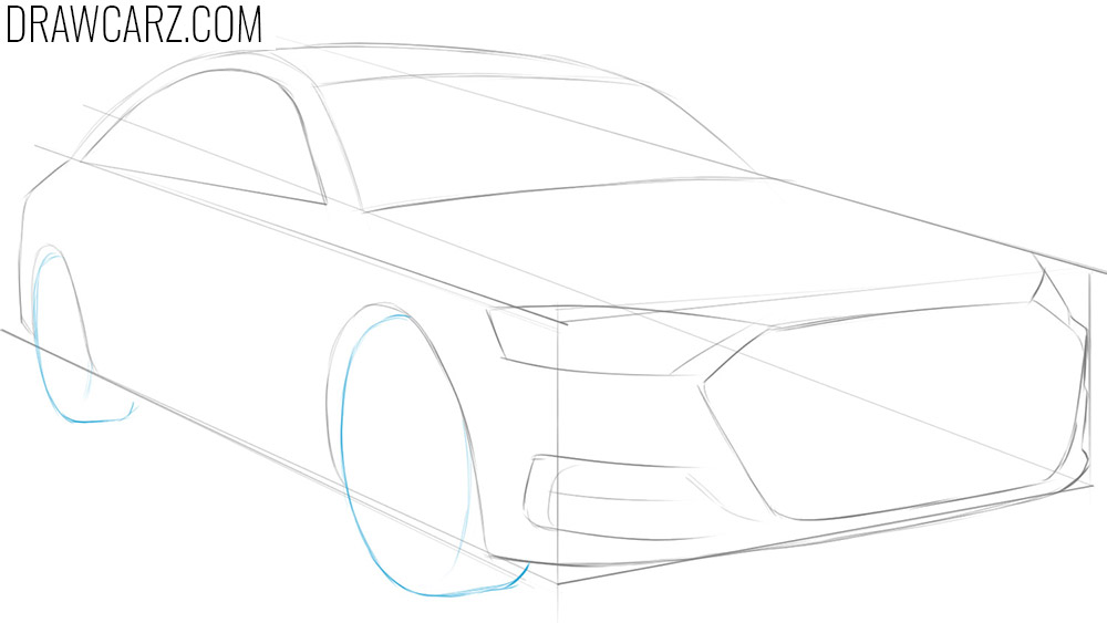 how to draw cars in perspective