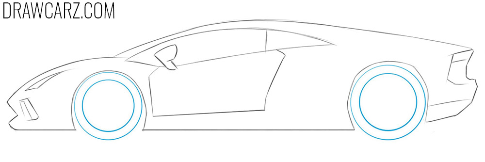 how to draw a Lamborghini for Kids easy