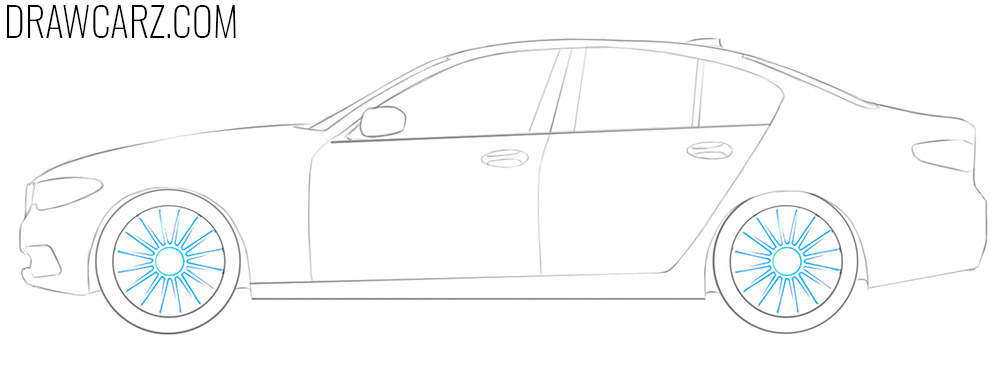 how to draw a bmw car step by step easy