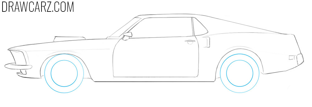 how to draw a classic muscle car