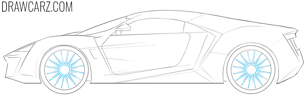 how to draw a lykan hypersport