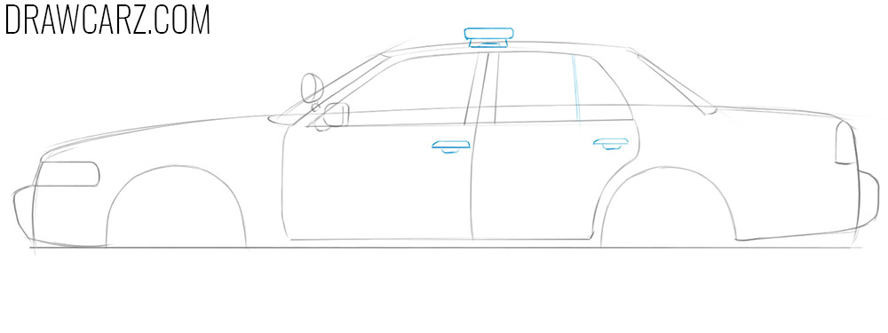 how to draw a police car step by step easy