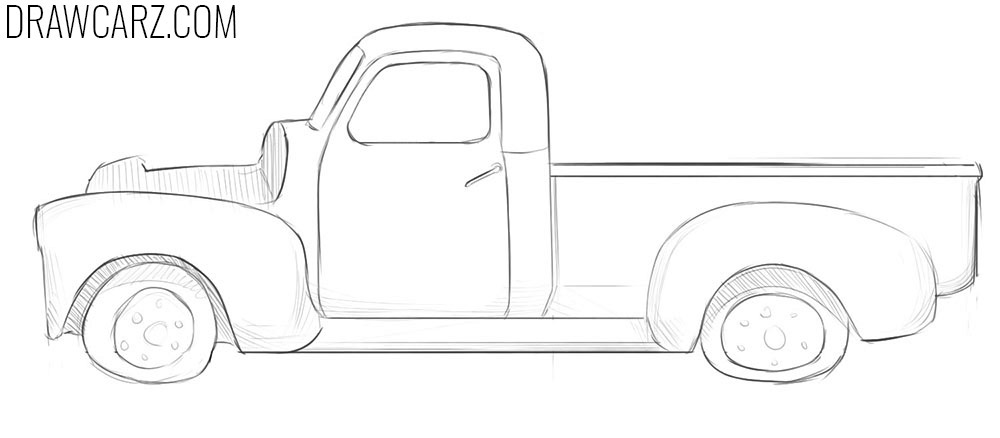 how to draw an abandoned car