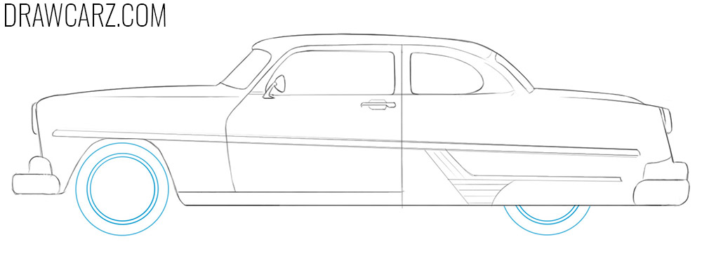 Antique Car drawing tutorial