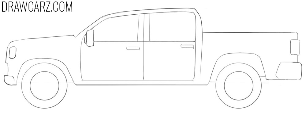 how to draw a Simple Truck