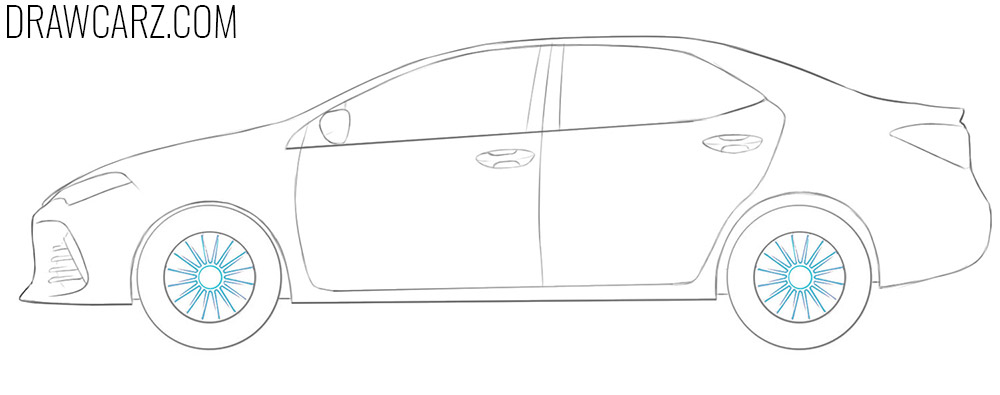 how to draw a Toyota Corolla easy