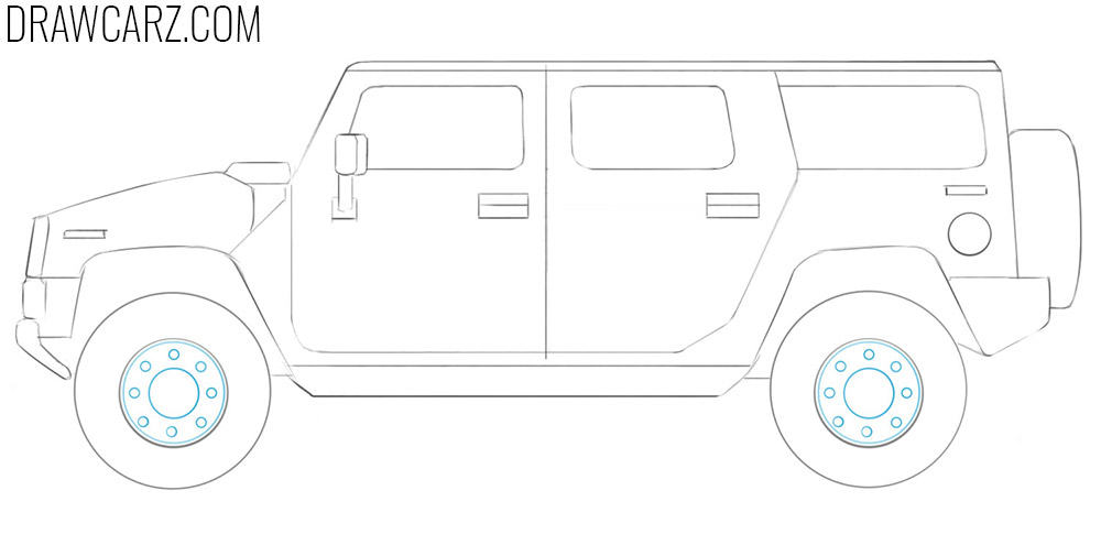 how to draw a big car easy
