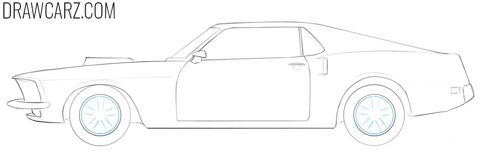 how to draw a classic car easy