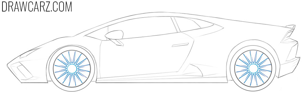 how to draw a lamborghini car easy