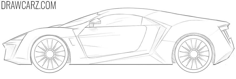 how to draw a lykan hypersport step by step